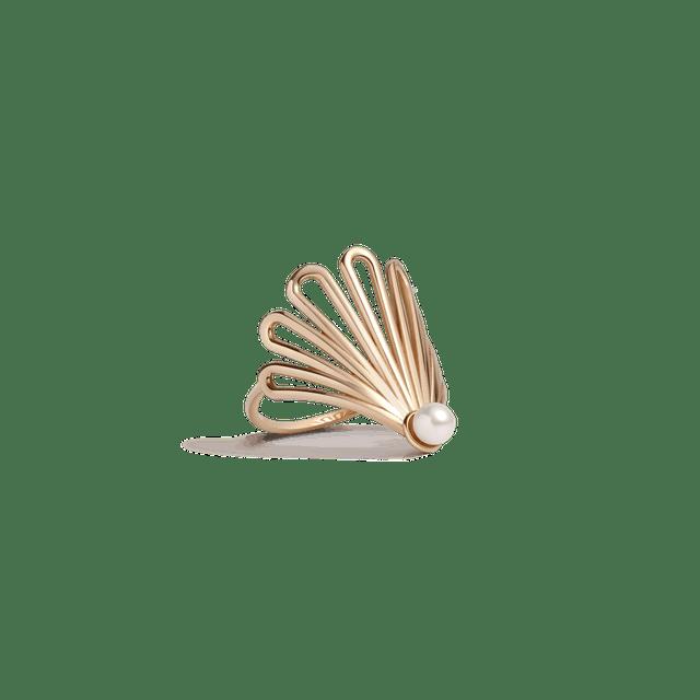 AUrate Deco Fan Pearl Ring 1