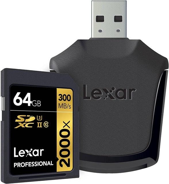 Lexar Professional 2000x 64GB SDXC UHS-II Memory Card 1