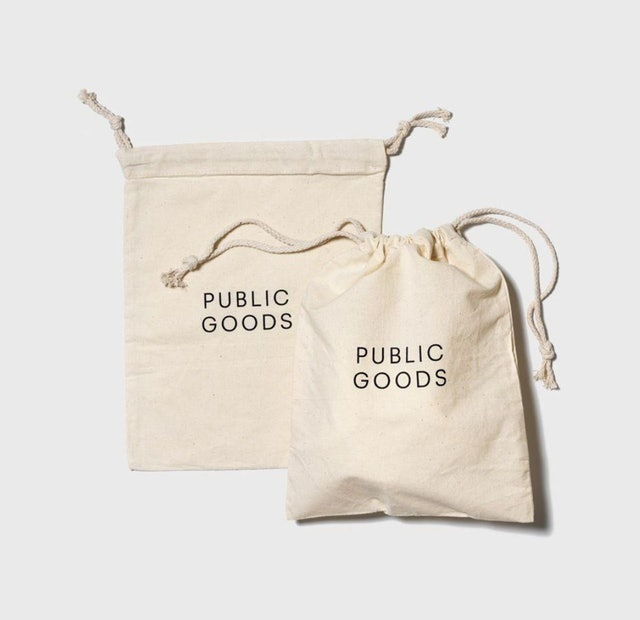 Public Goods Reusable Cotton Produce Bag 1