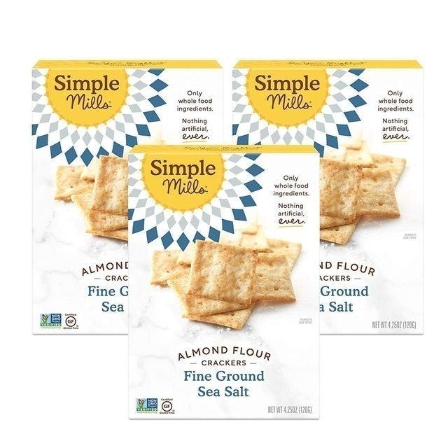 Simple Mills Fine Sea Salt Almond Flour Crackers 1