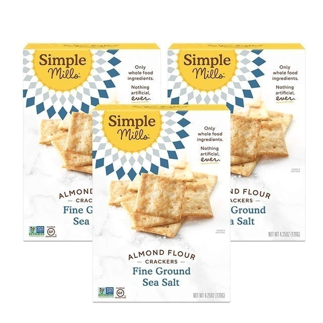 Simple Mills Fine Sea Salt Almond Flour Crackers 1