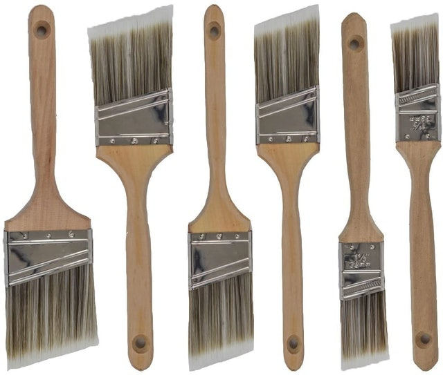 Pro Grade Variety Angle Paint Brushes 1