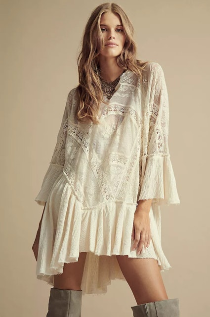 Free People Layered In Lace Swing Dress 1