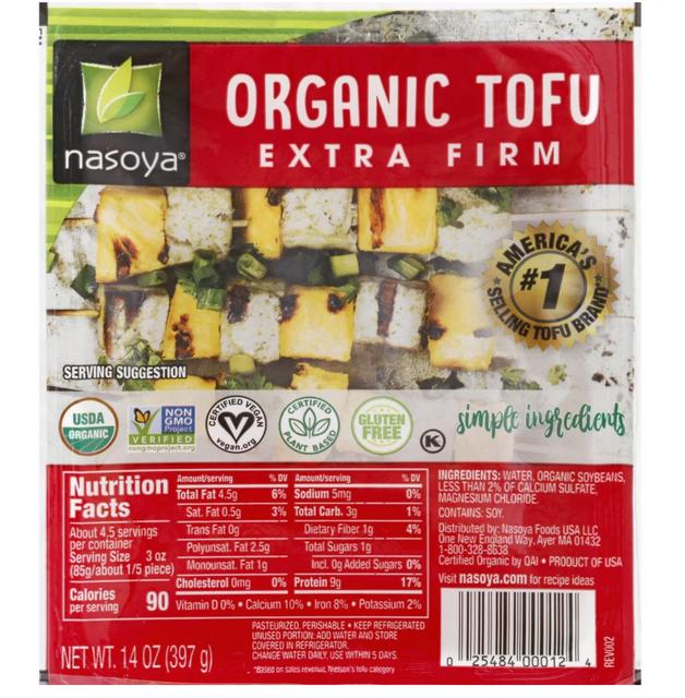 Nasoya Organic Extra Firm Tofu 1