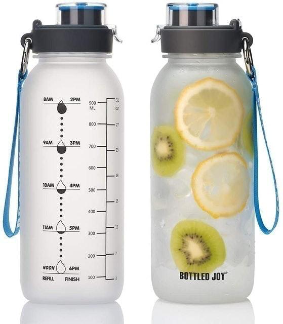 BOTTLED JOY Water Bottle with Motivational Time Marker 1