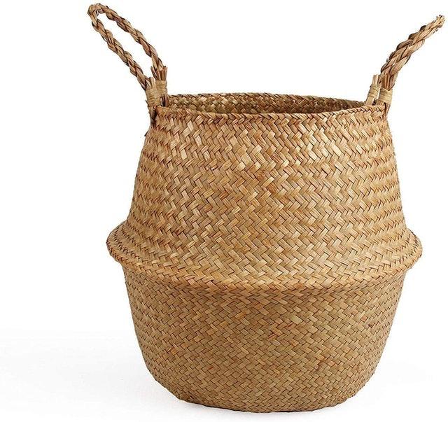 BlueMake Woven Seagrass Belly Basket 1