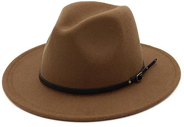 Lisianthus Women's Belt Buckle Fedora Hat 1