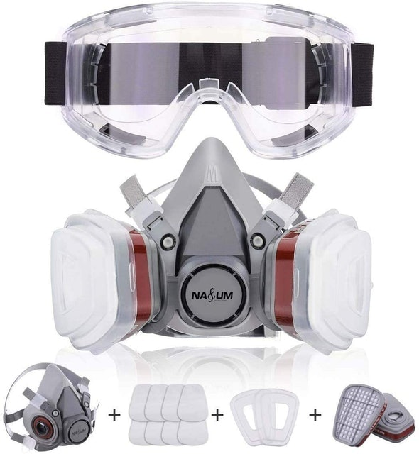 NASUM Half Face Cover with Safety Glasses 1