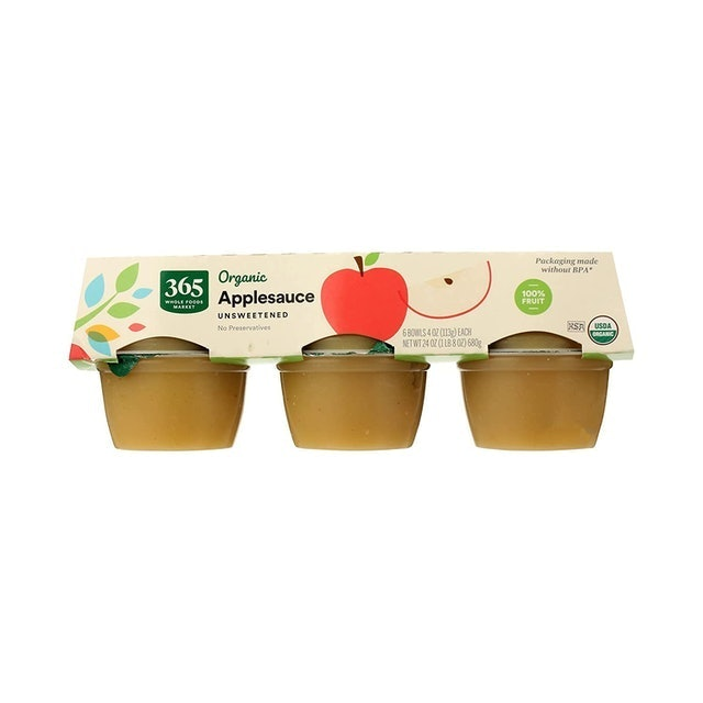 365 By Whole Foods Market Unsweetened Organic Apple Sauce  1