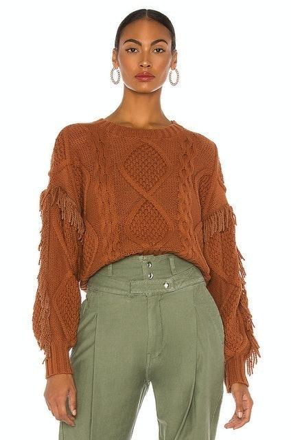 Revolve Line & Dot Jasper Fringe Sweater 1