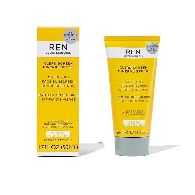 REN Clean Skincare Clean Screen Mineral SPF 30 Mattifying Face Sunscreen 1