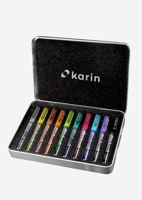 Karin Deco Brush Markers Metallic 1
