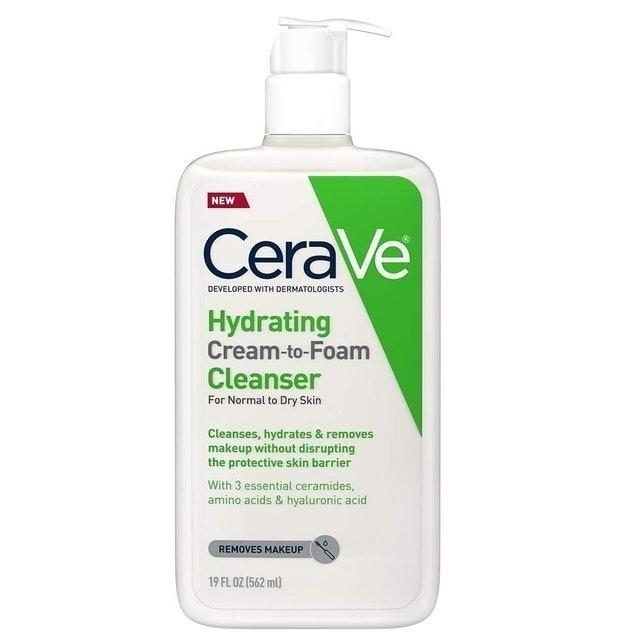 CeraVe Hydrating Cream-to-Foam Cleanser 1