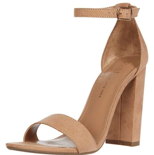 Rohb by Joyce Azria High Block & Stiletto Heel Ankle Strap Sandals 1