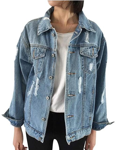 JudyBridal Oversized Denim Jacket 1