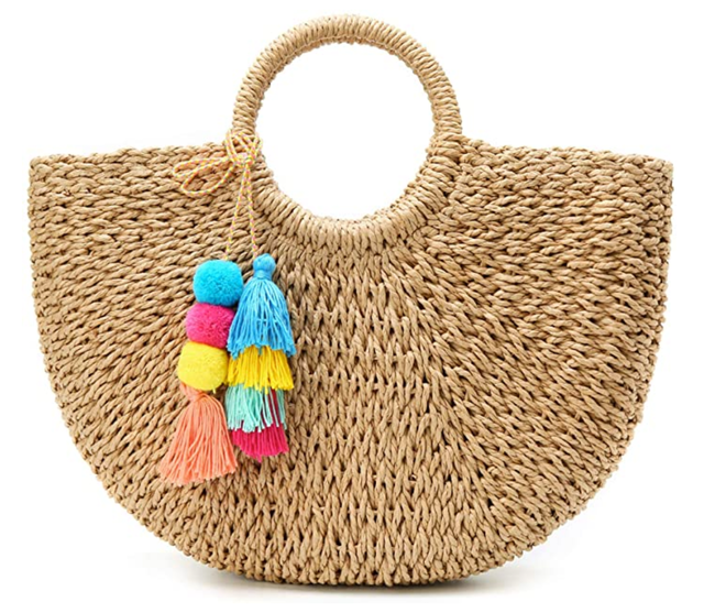 Epsion Straw Beach Tote Bag 1