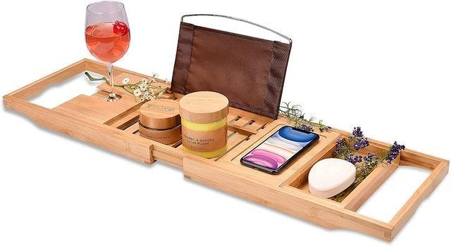 Homemaid Living Bamboo Bathtub Tray 1