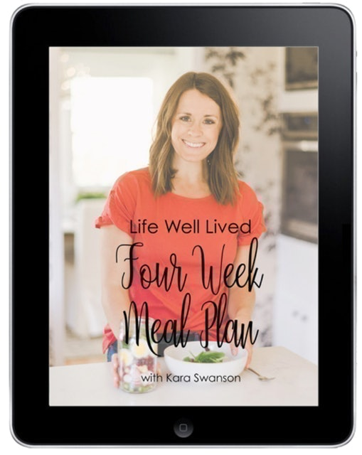 Life Well Lived 4-Week Meal Plan 1
