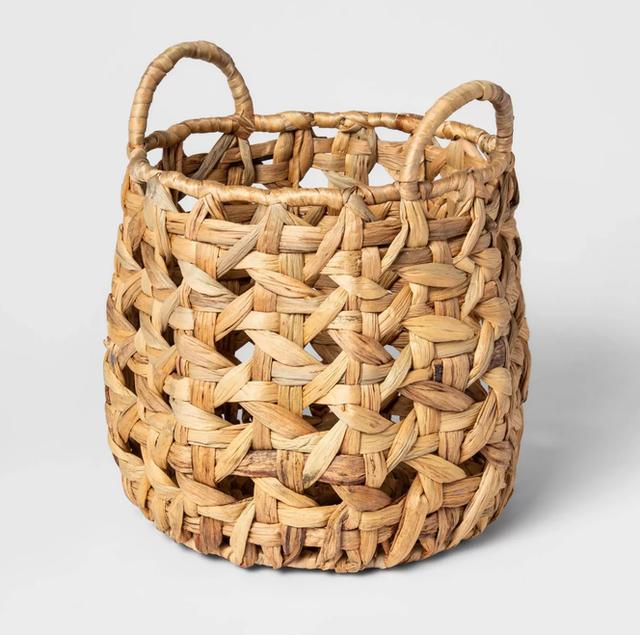 Threshold 8 Sided Open Weave Basket 1