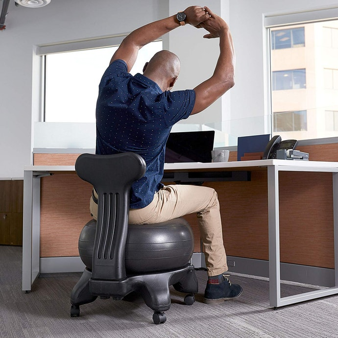 Strengthen Back Muscles with an Exercise Ball Chair