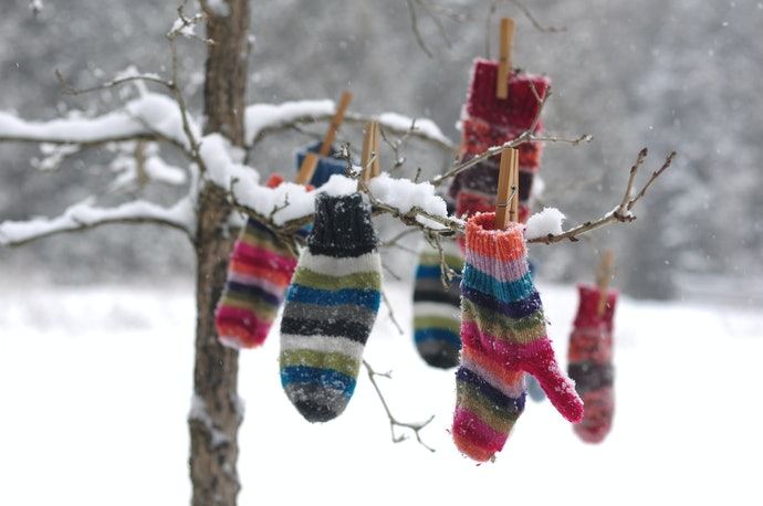 Knitted Mittens are Soft and Flexible