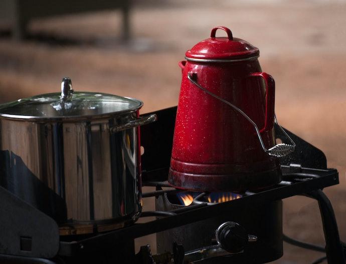 A Stovetop Coffee Percolator Brews Strong Coffee
