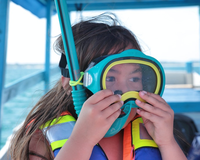 Silicone is Used for the Skirt of the Snorkeling Mask