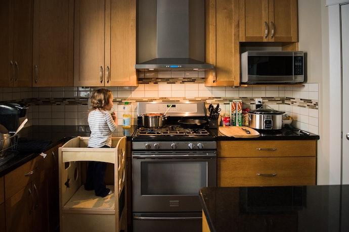 Consider a Large Kitchen Helper for Multiple Kids