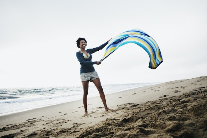 A Sand-Resistant Material is Perfect for the Beach