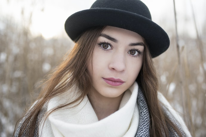 An Oblong Face Looks Great in a Brimmed Hat
