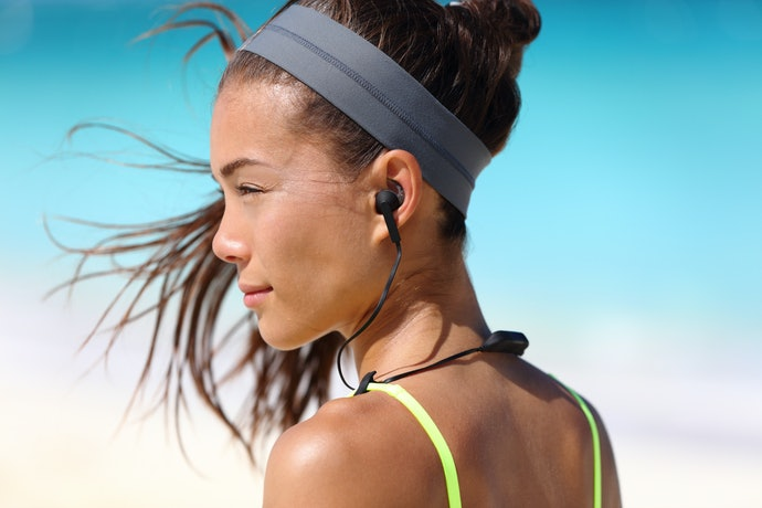 Earbuds with a Wrap-Around Neckband Offer Several Advantages