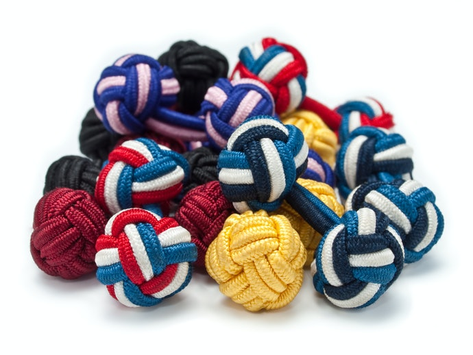 Fabric or Silk Knot Cufflinks for Everyday Use