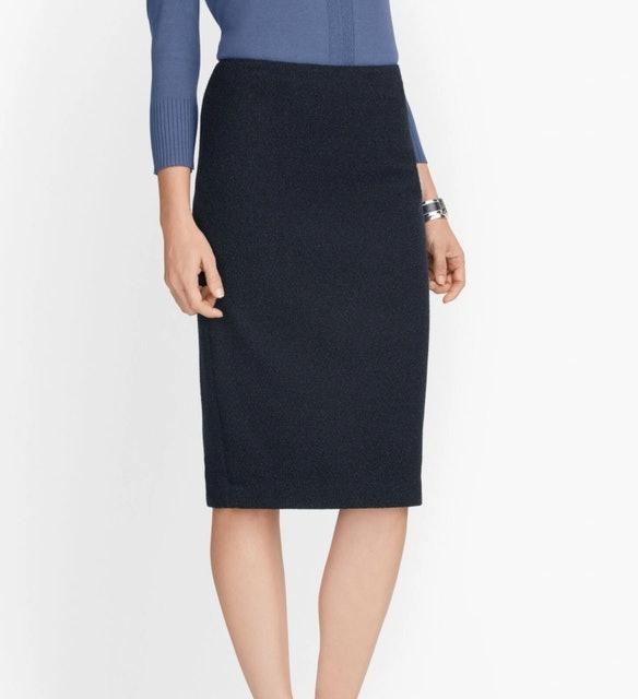 Talbots Knit Tweed Pencil Skirt 1