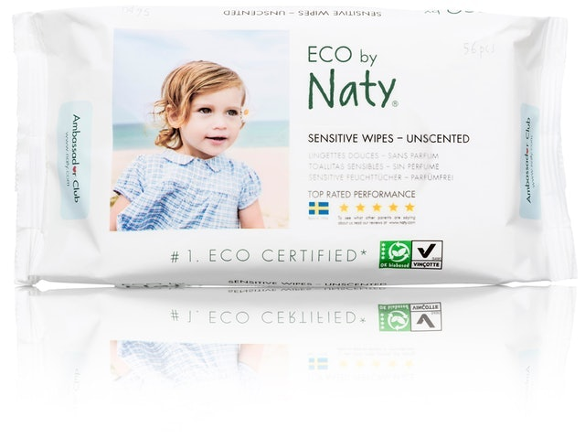 Eco by Naty Sensitive Wipes - Unscented 1