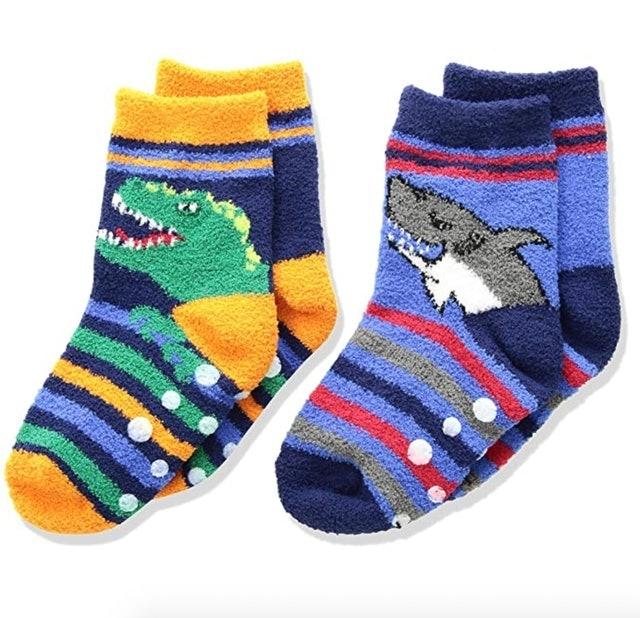 Jefferies Socks Fuzzy Non-Skid Slipper Socks 1