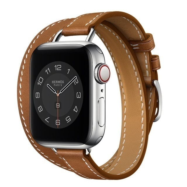 Apple Hermès - Fauve Barénia Leather Attelage Double Tour 1