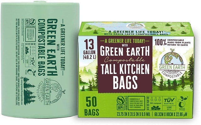 Green Earth  Compostable Tall Kitchen Bags 1