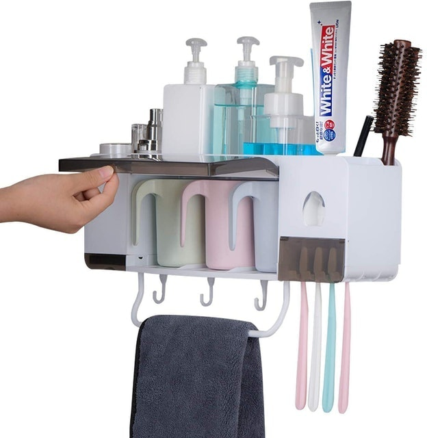 BHeadCat Automatic Toothpaste Dispenser and Toothbrush Holder 1