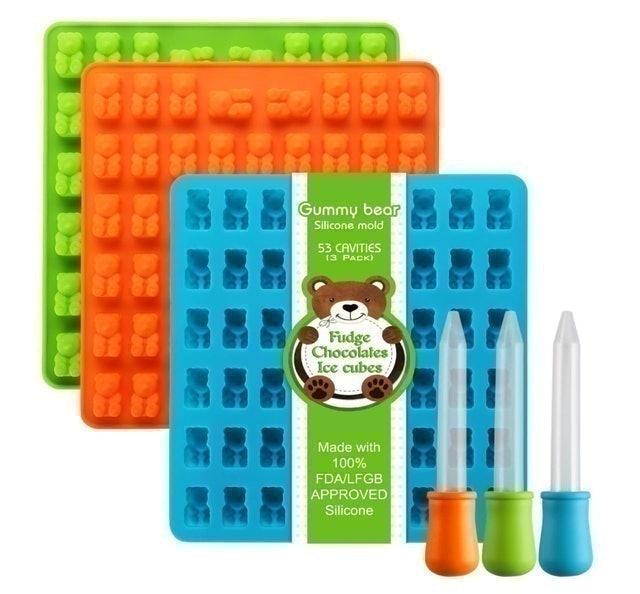 Lizber Gummy Bear Silicone Molds  1