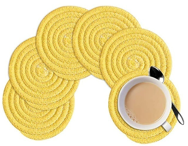 KWO Pure Cotton Thread Drink Coasters 1