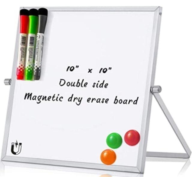 MerLerner Small Magnetic Dry Erase White Board 1
