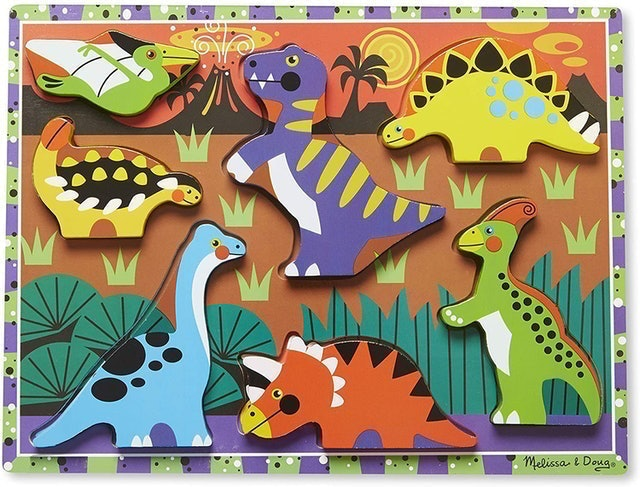 Melissa & Doug Dinosaur Wooden Chunky Puzzle 1