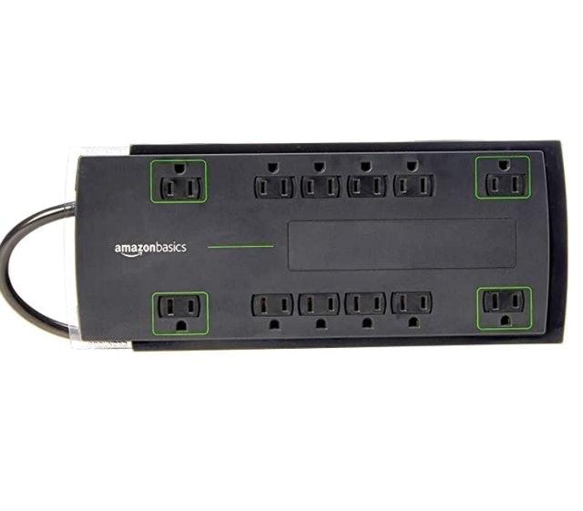 Amazon Basics 12-Outlet Power Strip Surge Protector 1