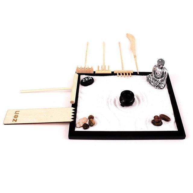 Wonderful Zen Deluxe Wooden Zen Sand Garden 1