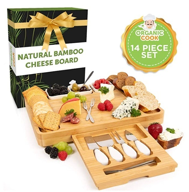 Organic Cook Bamboo Cheese Board Set 1