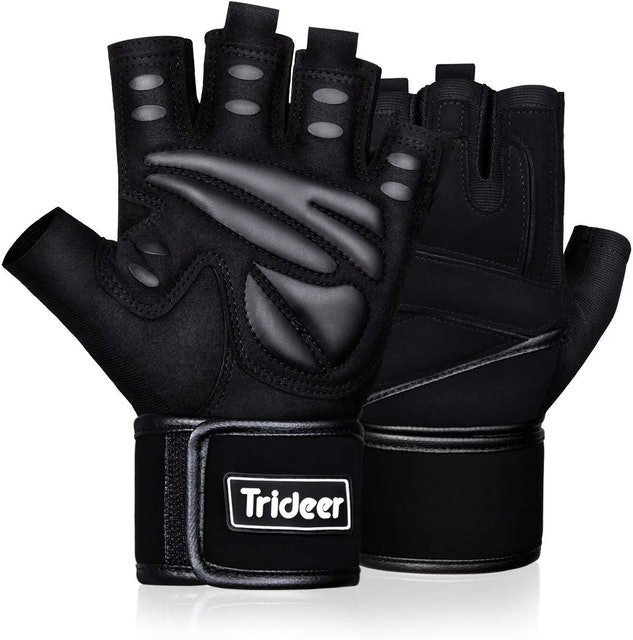 Trideer Padded Weight Lifting Gym Gloves 1
