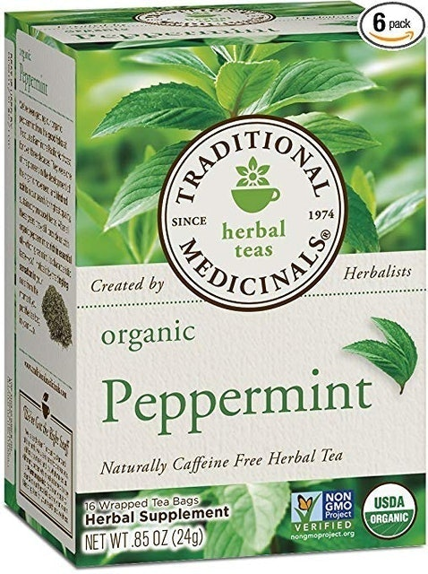 Traditional Medicinals Organic Peppermint Herbal Leaf Tea 1
