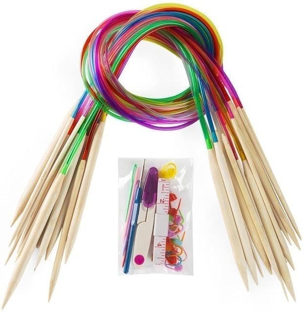 Vancens Bamboo Circular Knitting Needles Set 1