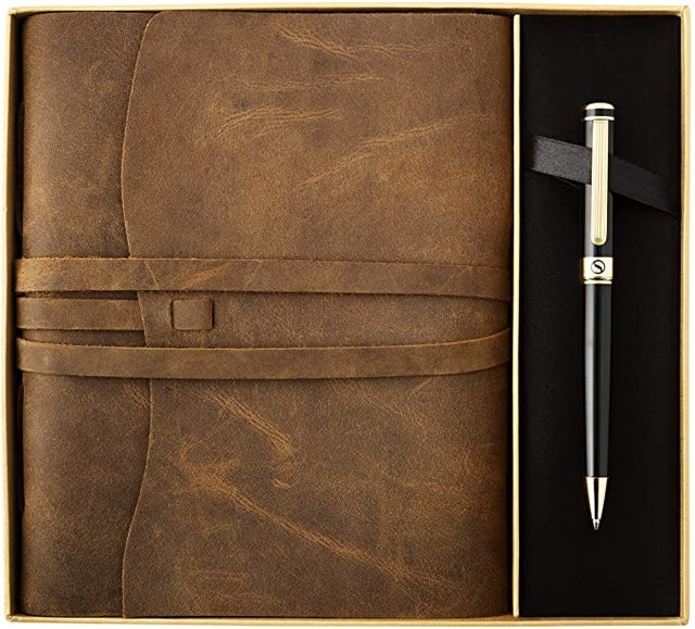 Scriveiner  Premium Leather Journal Gift Set by Scriveiner 1