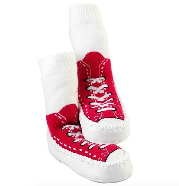 Mocc Ons Moccasin Style Slipper Socks 1